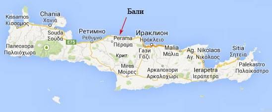 маршруты по острову Крит фото