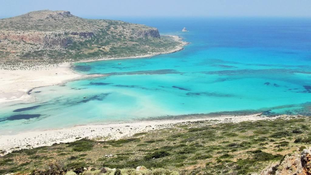 бухта Балос слияние трех морей