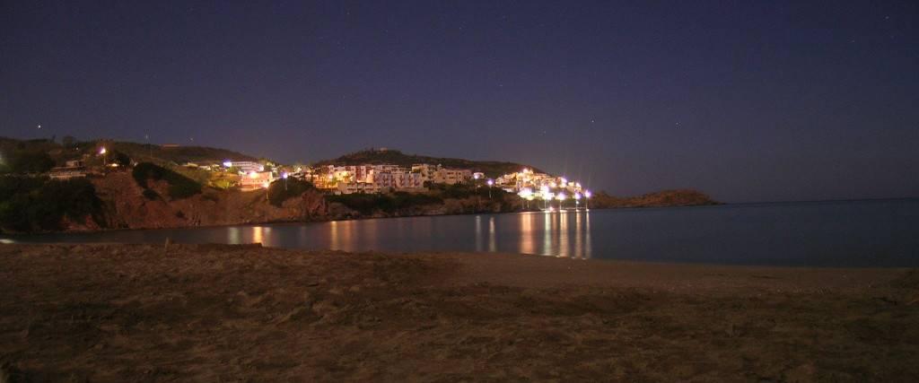 Ночной вид пляжа