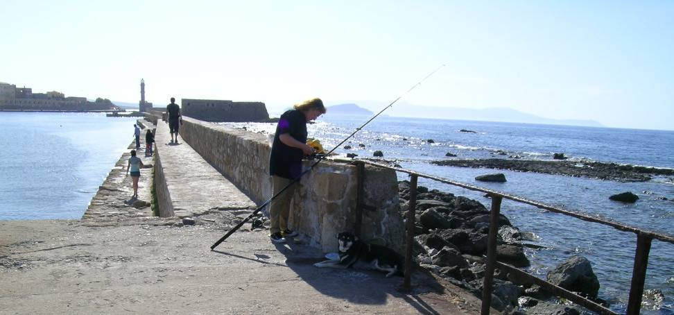 Рыбак в Ханье