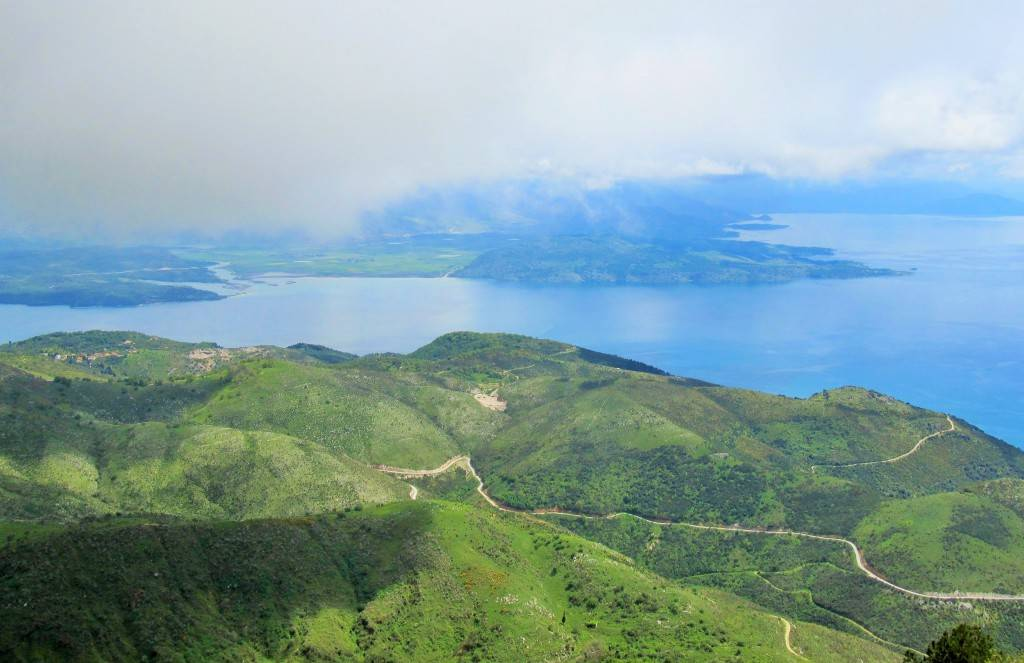 маршрут по острову Корфу Вид с Пантократора
