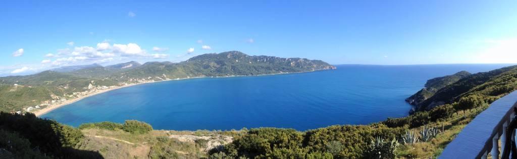 Афионас. Панорама окресностей. по острову Корфу