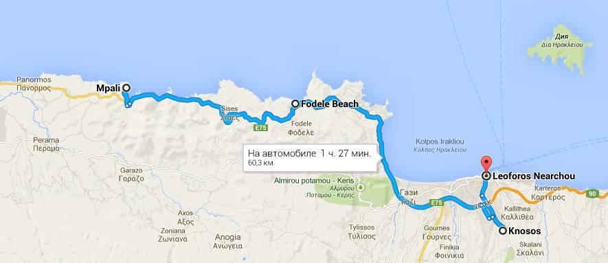 Автомобильный маршрут Крит фото Эль-Греко - Кносс - Ираклион