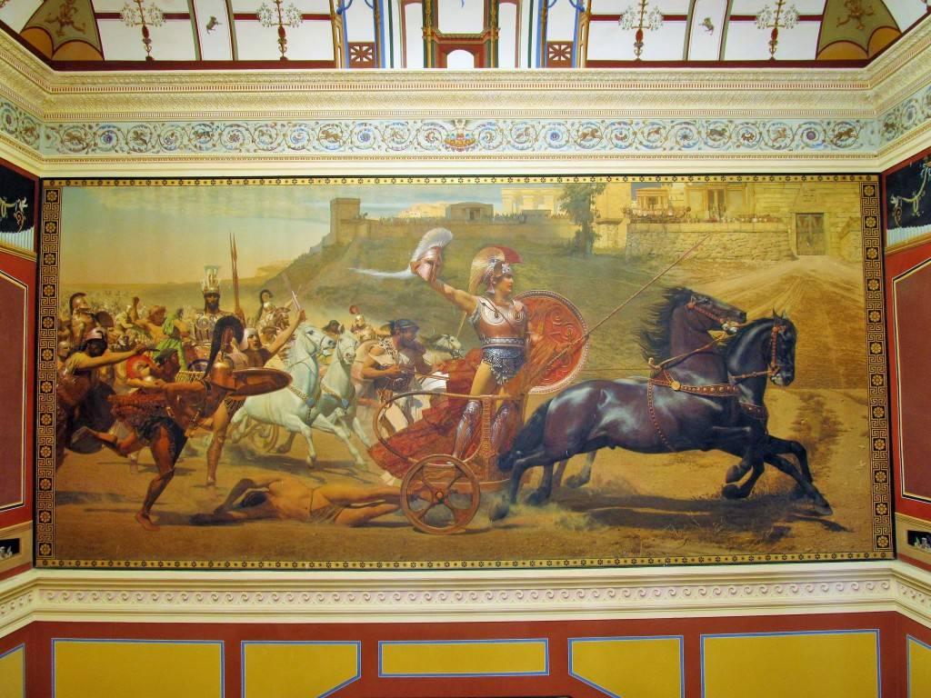 Картина Триумф Ахиллеса в холле дворца