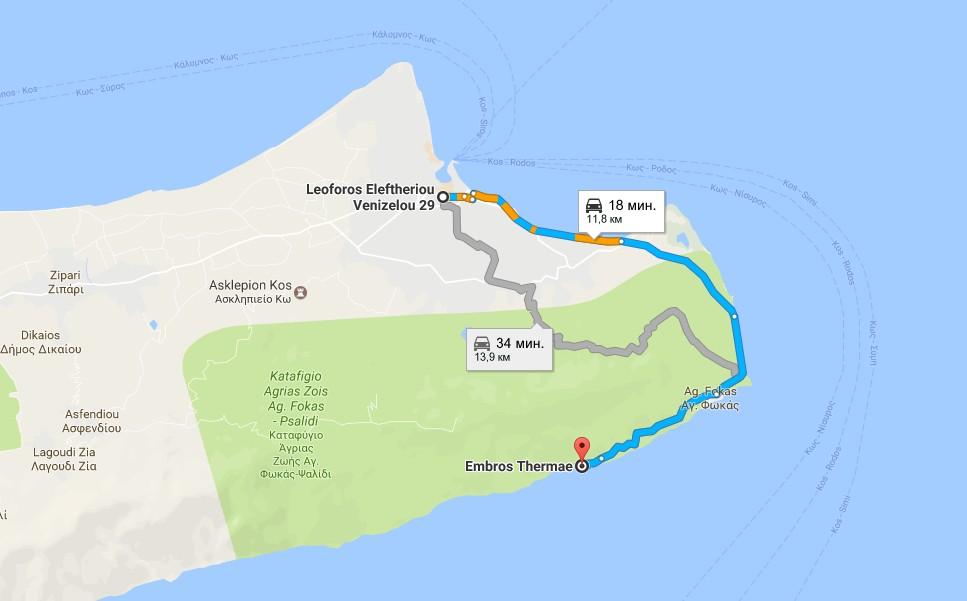 Термальные источники острова Кос как добраться