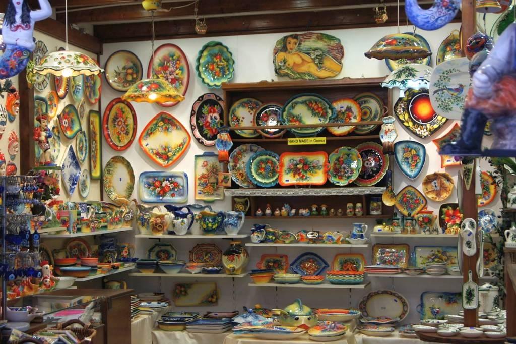 Сувениры из Греции Керамическая посуда