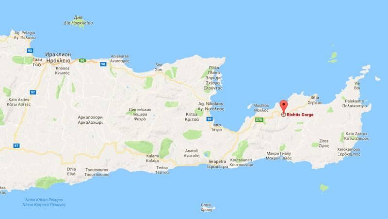 Ущелья Крита. Ущелье Рихтис