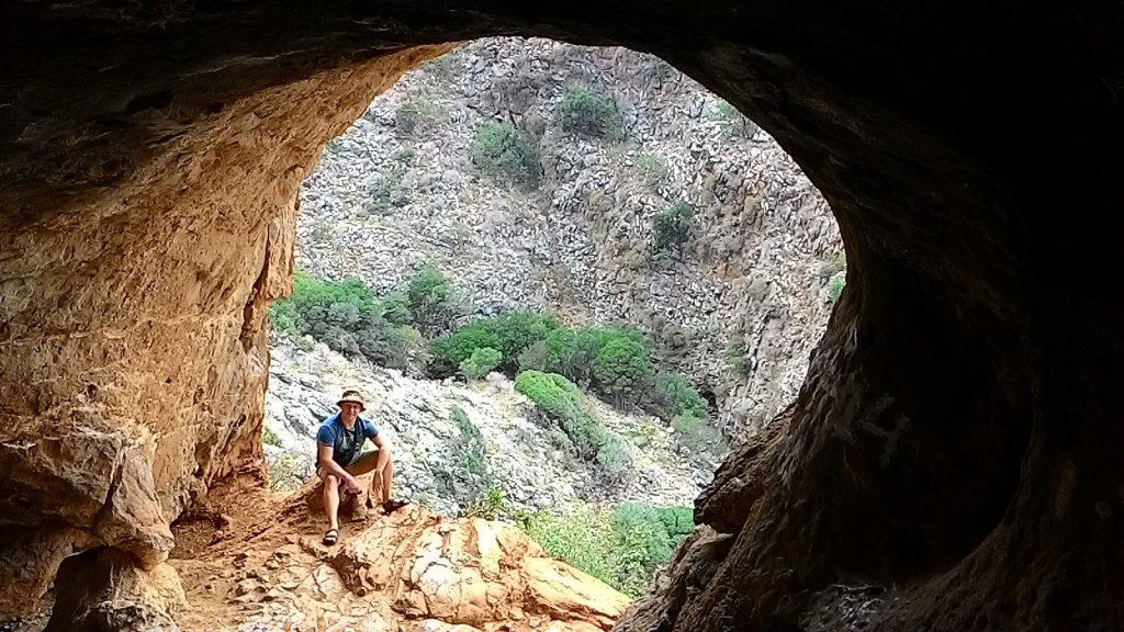 """""""Окно"""" в пещеру Милатос"""