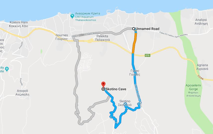 Как добраться до пещеры Скотино карта
